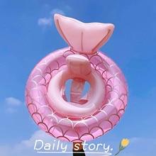 Mermaid Circle Baby Float Inflatable Swimming Swim Ring Children Waist Pool Toy Water Playing Bathtub