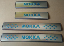 цена на Door sills/sill plate,scuff plate threshold for Opel Mokka,stainless steel,free shipping,auto accessories