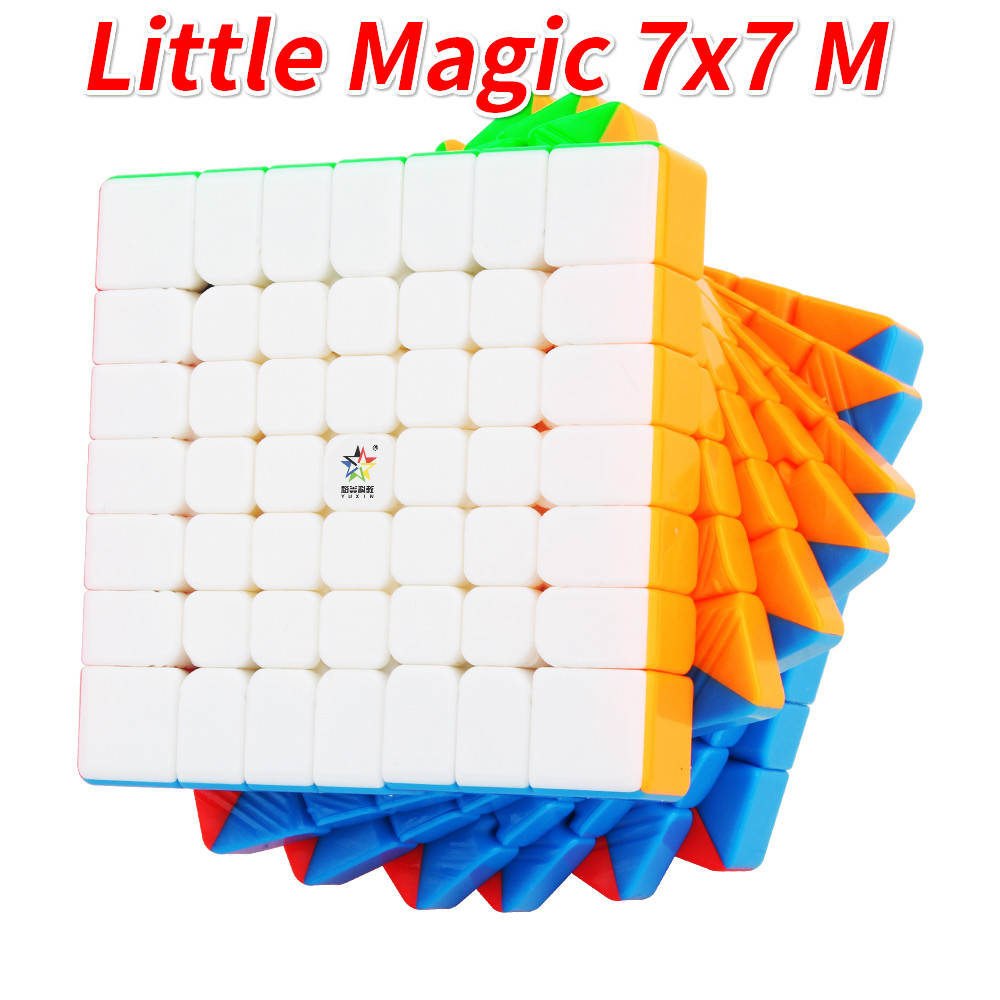 Yuxin Little Magic 7x7 Cube Magnetic Or Normal Stickerless Zhisheng Cube Puzzle Magnet 7x7x7 M Children Kids Cubo Magico Gift