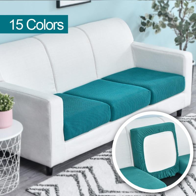 Funda de cojín del asiento del sofá funda de silla mascotas niños Protector de muebles, funda de sofá elástico extraíble Slipcover poliéster lavable 1 Uds