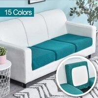 Funda de cojín del asiento del sofá cubierta de la silla de mascotas niños Protector de muebles, sofá cubierta elástico desmontable funda poliéster lavable 1 Uds