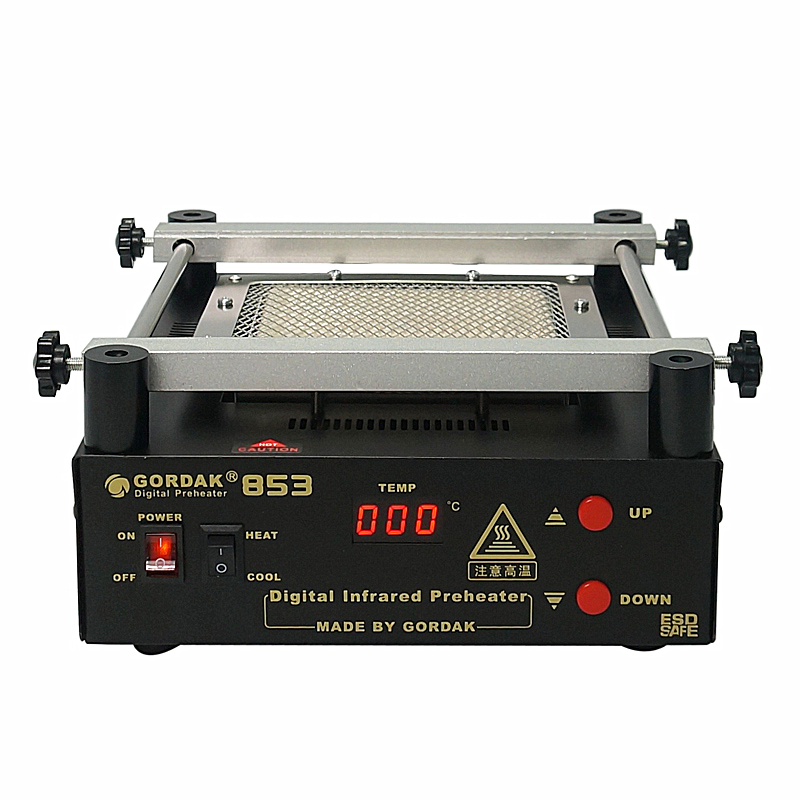 Tools : Original Gordak 853 IR Infrared Preheating Station Lead Free Preheater for BGA Repairing Desolder of PCB Board Tools Kit 220V