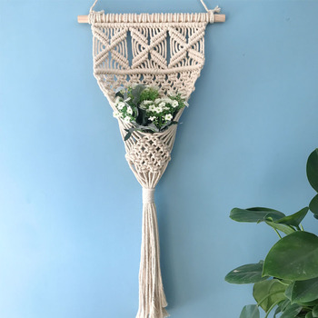 Tapiz de algodón hecho a mano, borla nórdica, decoración Vintage para sala...