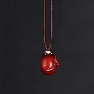 Image 3 - 1997 Griffith Berserk Behelit Necklace Crimson Beherit Guts Beheritto The Egg Of The King With Leather Rope Activated Type