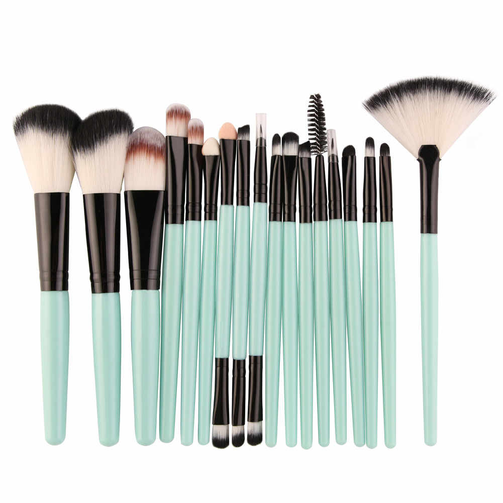 18 stücke Professionelle Make-Up Pinsel Fan-förmigen make-up pinsel Pulver Blush Foundation Concealer Lidschatten Make-Up pinsel schönheit werkzeug