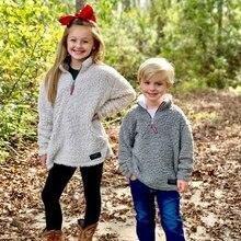 Детская одежда для девочек и мальчиков; сезон осень; теплые зимние плюшевые тапочки теплые свитера, пуловеры Куртки 10 Цвета