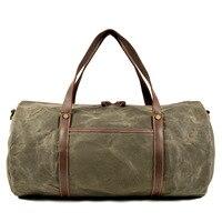 Retro faltung reisetasche tragbare große kapazität wasserdichte fitness tasche große kapazität freizeit outdoor schulter tasche