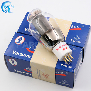 Image 5 - 1Pair TJ Fullmusic 300B Vacuum Tube Solid Plate Gold Pins Ceramic Base Alternative To Other Brands 300B Vacuum Tuba Audio