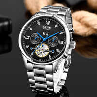 LIGE nouvelles montres pour hommes Top marque de luxe automatique mécanique de luxe montre Tourbillon pour hommes sport montre-bracelet hommes Reloj Hombre
