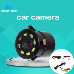 Smartour, Водонепроницаемая Автомобильная камера заднего вида, 8 круглых ночного видения, Реверсивный Автомобильный парковочный монитор, CCD, ши...