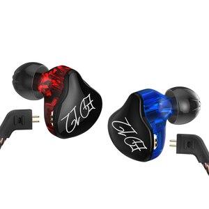 Image 2 - KZ ED12ที่กำหนดเองหูฟังสไตล์เคเบิ้ลถอดในหูเสียงจอภาพเสียงแยกไฮไฟเพลงกีฬาหูฟังกับไมโครโฟน