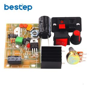 Electronic kit Circuit Board DIY Kit LM317 DC 5V-35V AC/DC Adjustable Regulated Voltage Step-down Power Supply Suite Module
