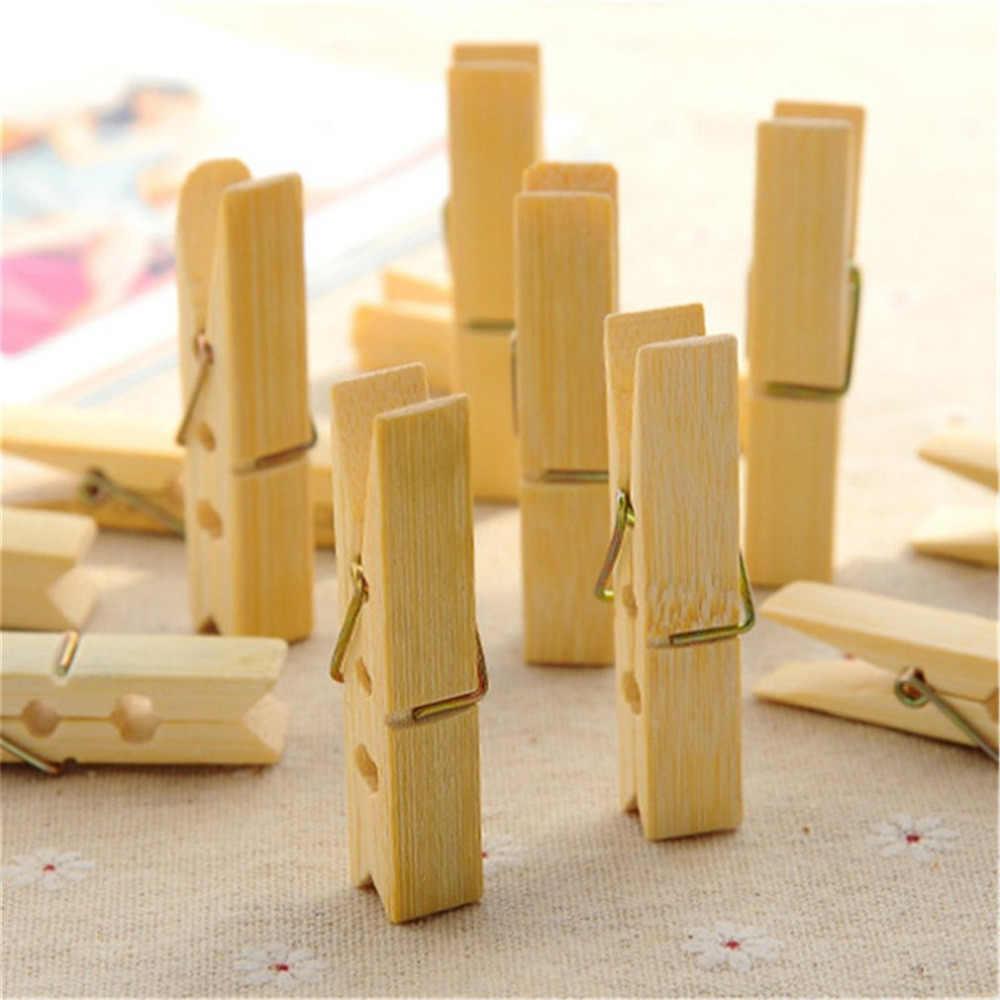 20 Buah/Set Multifungsi Rumah Sederhana Penting Nyaman Laundry Bambu Alami Penahan Angin Klip Fashion Pakaian Pasak
