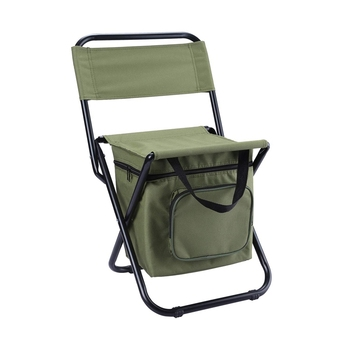 Foldable Camping Chair with Cooler Bag Compact Fishing Stool Multifunctional Portable Stool with Heat Preservation Bag Can Carry фото