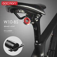 GACIRON USB Lade Bike Schwanz Licht laterne Smart Bremse Sensor Rücklicht MTB Straße Zyklus Hinten Led Wasserdichte Fahrrad Zurück Lichter