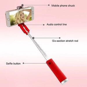 Image 5 - Kebidu Đa Năng Mini Selfie Kèm Nút 3.5 Mm Có Dây Silicone Tay Cầm Chụp Ảnh Monopod Cho Iphone Android Samsung Huawei Xiaomi