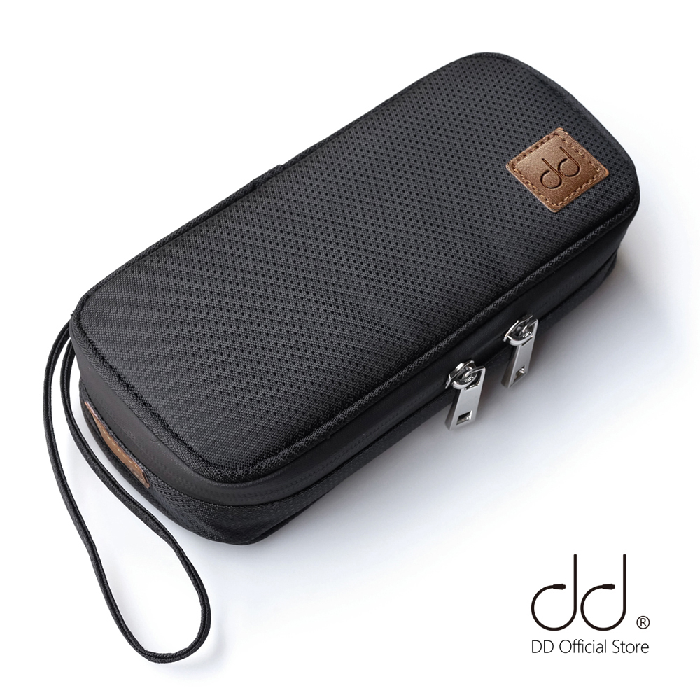 DD C-2019 (Black) Customized HiFi Carrying Case For Audiophiles, Headphone And Cables Storage Bag, Music Player Protective Case.