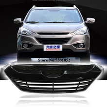 ABS Chrome Exterior Grille Cover Trim For Hyundai ix35 2009-2015 Front Refit Grills Racing Car Accessories
