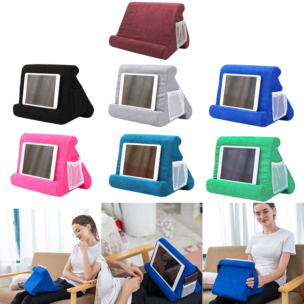 Multi-Angle Soft Pillow Pad Tablet Phone Bracket Universal Lap Stand For IPad Tablet Magazine Holder Pillow Mobile Phone Hold