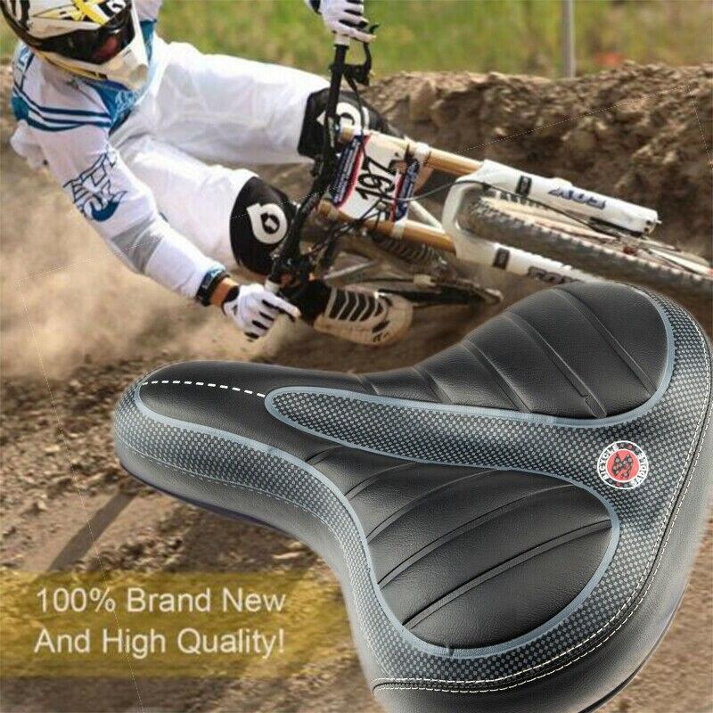 New Bicycle Saddles Comfort Seat Wide Big Bum Gel Pad Bike Replace Seat US