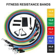 11Pcs Elastici A Resistenza Set Expander Esercizio di Yoga Per Il Fitness Tubi di Gomma Della Fascia di Stirata di Casa di Formazione Palestre di Allenamento Elastico Tirare La Corda