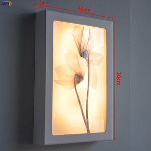 Image 5 - Fashion Arts Painting Wall Lamp Sconce12W Acrylic Modern Flower Wandlamp Bedroom Lights Fixture Stairs Applique Murale Luminaire