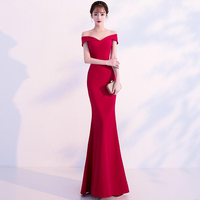 Coton grande taille robe de mariée Sexy robe en Satin dos nu fête robe sirène dos nu élégant formel pure robe Maxi tenue