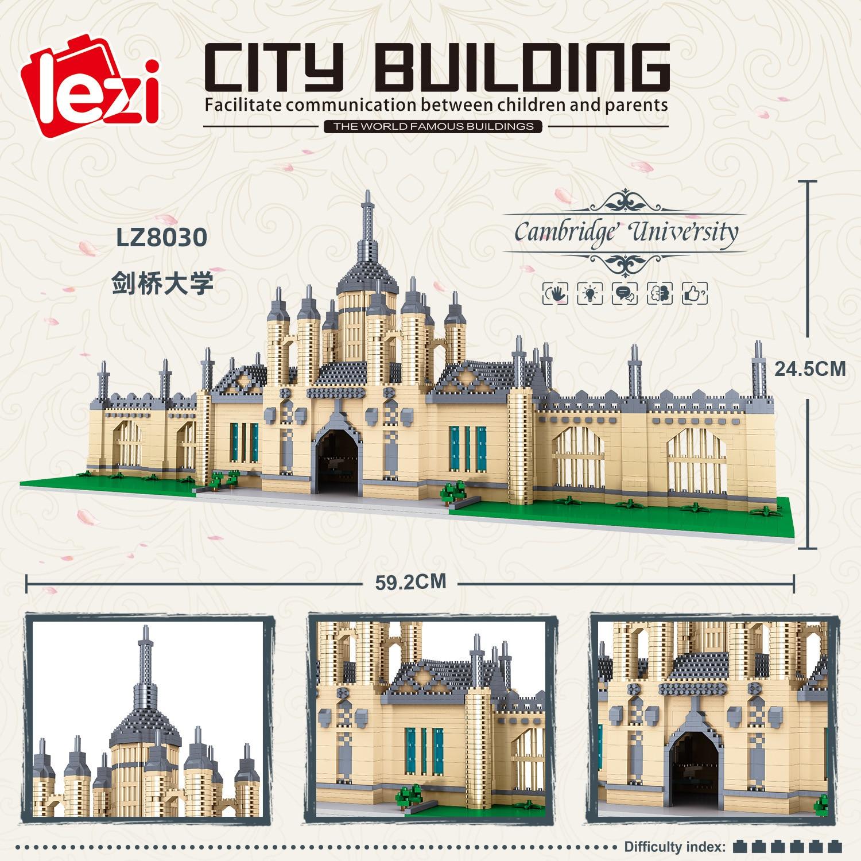 Balody World Famous Architecture Diamond Building Blocks Toy Taj Mahal Vassili Church Big Ben London Bridge 30