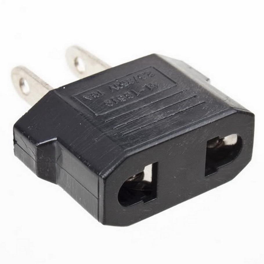 Universal Travel Power Plug Adapter EU EURO to US USA Adaptor Converter AC Power Plug Adaptor Connector