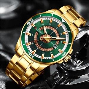 Image 2 - CURREN Sport Men Watch Top Brand Luxury Gold Military Business Waterproof Male Clock Stainless Steel Quartz Man Wristwatch 8359