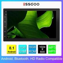 Essgoo-Radio con Gps para coche, reproductor multimedia Universal con Android, 2 Din, estéreo, 7 pulgadas, 2 + 16G