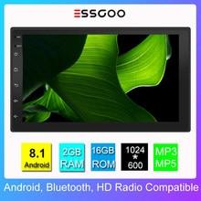 Essgoo Android Autoradio universel 2 Din stéréo 7 pouces Autoradio RDS Auto Multimidia lecteur Automotivo Gps Navigation 2 + 16G