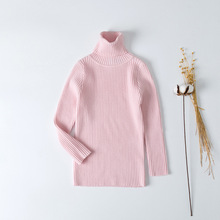 2019 Kids Autumn Winter Sweater Baby Boy Girl Knitted Bottoming Turtleneck Shirts Solid Pullover Clothing