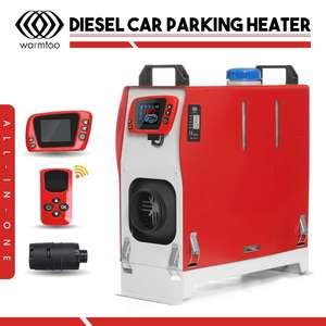 Image 2 - Tudo em uma unidade 8000w 12v aquecedor de carro ferramenta calor diesel aquecedor único furo lcd monitor estacionamento mais quente para o caminhão carro ônibus barco rv