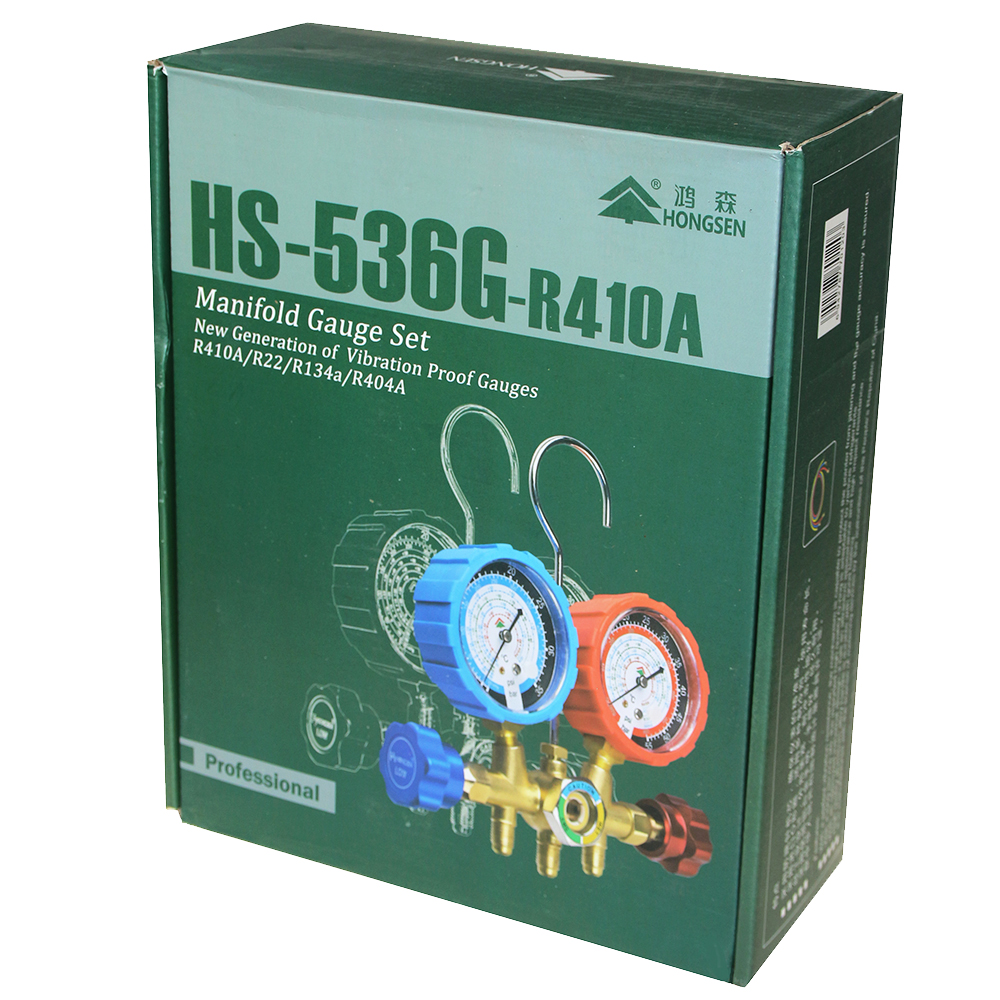 Aluminum Body Manifold Gauge Single Gauge HS-536G-R410A 1-Way For Household Air Conditioner