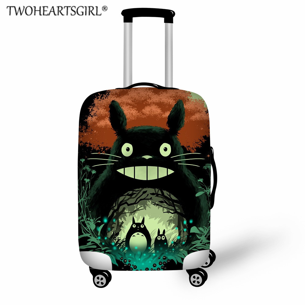 TWOHEARTSGIRL Kids Cartoon Totoro Print Luggage Cover,Travel Accessories,Elastic Suitcase Covers For
