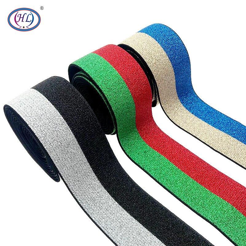 HL 2 Meter 40mm Breite Bunte Nylon Elastische Bands DIY Gurtband Bekleidung Taschen Leggings Nähen Zubehör