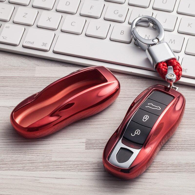 ТПУ ключи держатель чехол дистанционного чехол для Porsche Cayenne 911 996 Panamera Macan автомобильный протектор в виде ракушки Авто интимные аксессуары с...