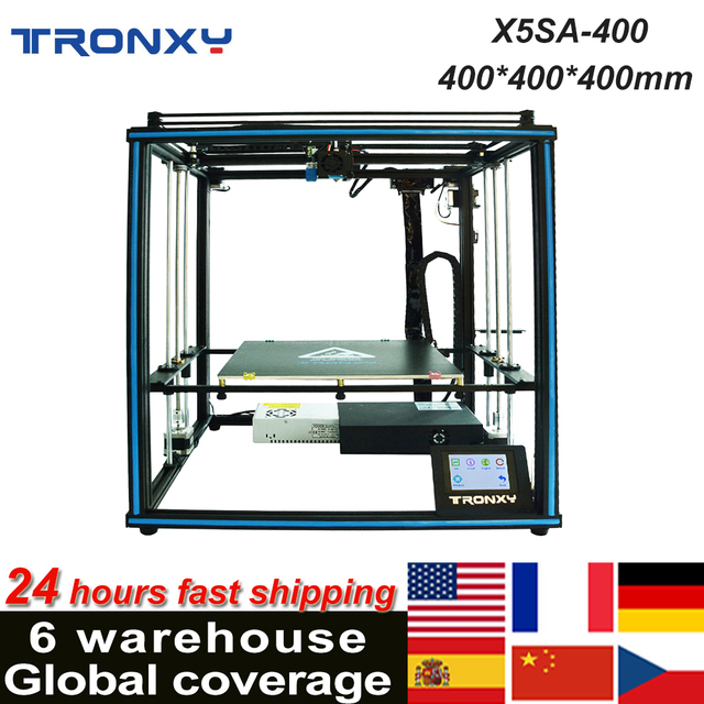 Tronxy X5SA 400 3D Printer DIY Kit Support Auto Leveling Resume Printing Filament Run Out Detection 400*400*400mm 8GB TF Card