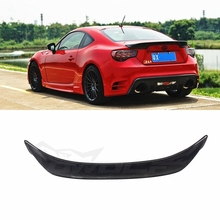 Car Accessories For Toyota GT86 BRZ FR-S Spoiler 2013 2014 2015 Carbon Fiber Rear Spoiler Tail Trunk Wing Boot Lip Molding 1Pcs