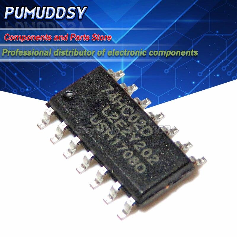 10 pçs/lote novo 74hc02d 74hc02 sop14 chip de lógica ic não portão cmos