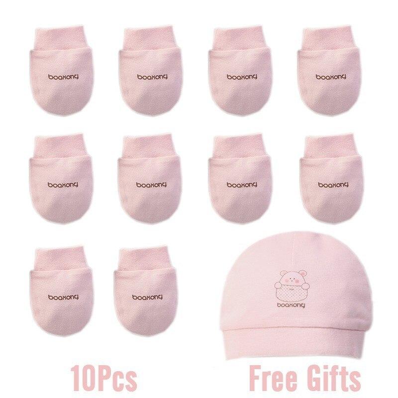 Зима осень хлопок детские перчатки неонатальные перчатки удобные дышащие детские перчатки новорожденная детская рукавица - Цвет: 5 Pairs 6