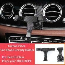 Telefon samochodowy uchwyt gravity uchwyt do otworu wentylacyjnego uchwyt samochodowy na telefon dla Benz E klasa 2016 2019 E200 E300 W213 telefon komórkowy do samochodu uchwyt na stojak