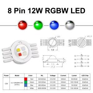 Image 3 - Siêu Sáng 4W 12W RGBW RGBWW RGBV Chip LED COB 3W Đỏ Xanh Trắng Phối Xanh Tím Full màu Sắc Tự Làm Giai Đoạn DJ DMX Ánh Sáng Đèn Thanh Bóng Đèn