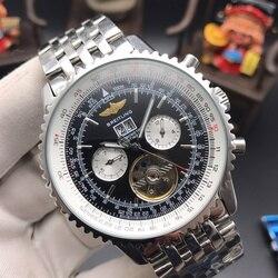 Часы Breitling мужские, механические, кварцевые, с ремешком из нержавеющей стали, 2020