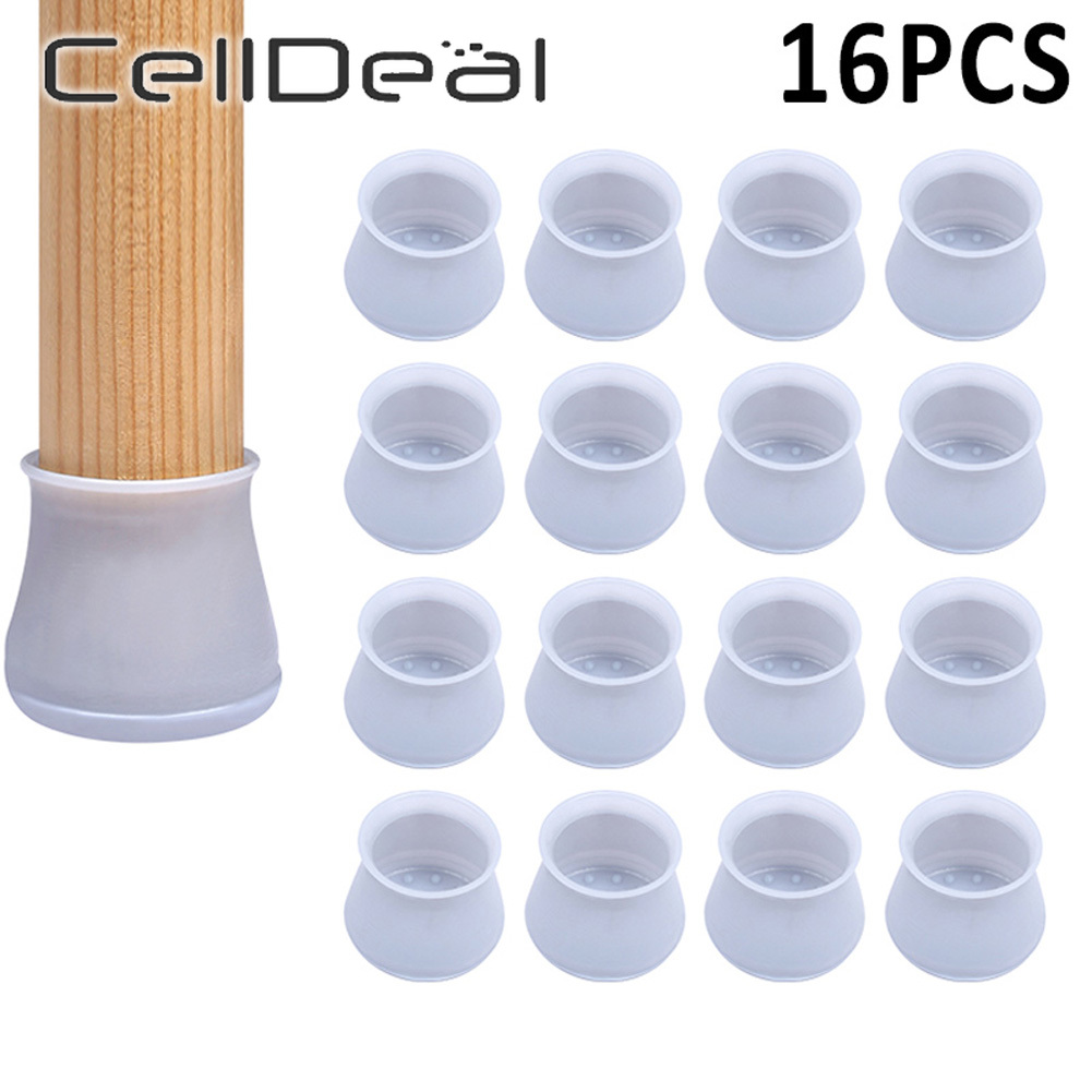 16pcs Table Chair Leg Silicone Cap Pad Furniture Table Feet Cover Floor Protector Non-slip Table Chair Mat Caps Foot Protection