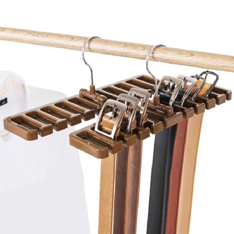 Cabinet Storage Rack Tie Belt Organizer Rotating Ties Hanger Holder Rack Wardrobe Closet Storage Holder Silk Scarf Rack