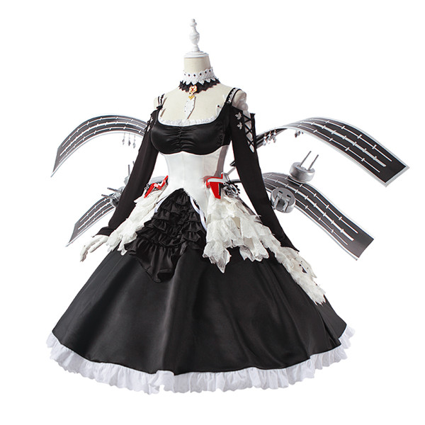 Azur Lane Enterprise B Cosplay Costume Collection Sexy Black Dress Halloween Christmas Maid wear for women A