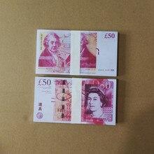 Billetes de película de moneda británica para niños, juguetes para fiesta, ambiente, riqueza, 50 libras, dinero falso, regalo creativo