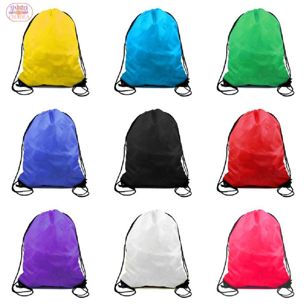 Popular Polyester Kids Drawstring Backpacks Travel Storage Shoulders Bag Beach Outdoor Sport Gym Bag Clothes Dance Shoe Bag
